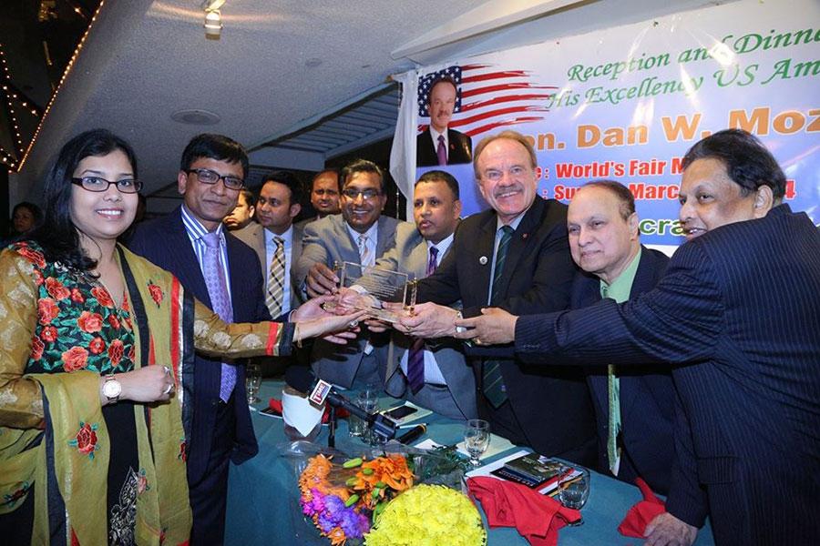 U.S. Ambassador to Bangladesh Dan Mozena- awarded PeopleNTech in 2014